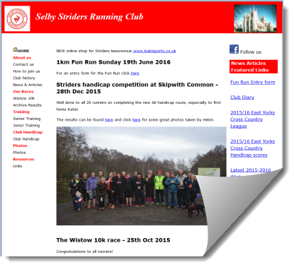 Selby Striders Running Club
